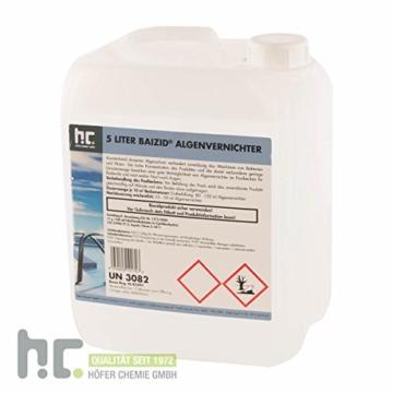 1 x 5 L Algenvernichter - schaumfrei - für Pools - VERSANDKOSTENFREI - im praktischen 5 L Kanister -