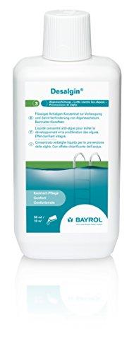 BAYROL Desalgin - Flüssiges Algizid - Hochkonzentriert, ohne Chlor und mit Klareffekt - Verhindert Algenwachstum im Pool - 1 L -