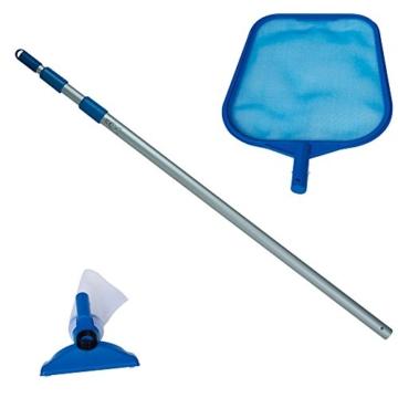 Intex Pool Reinigungsset mit Kescher, Bodensauger und Teleskopstange, blau, 3-teilig -